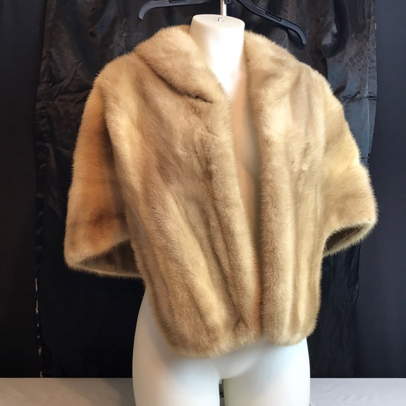 d38cb4a13a1e Jackets   Blazers - Vintage 1950 s Emba Pearl natural pale beige mink